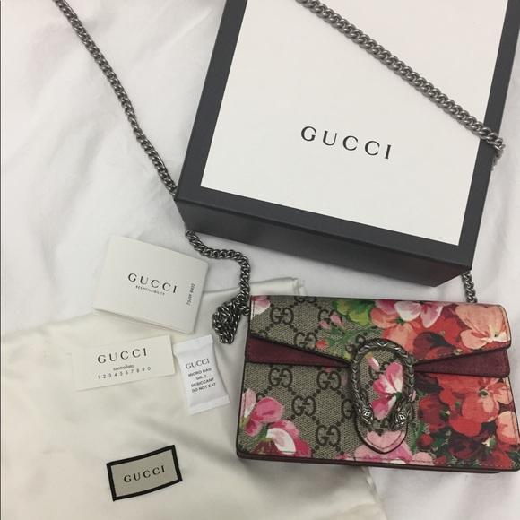 9ecee6453dc Gucci Handbags - Authentic Gucci Dionysus GG Blooms Super Mini Bag